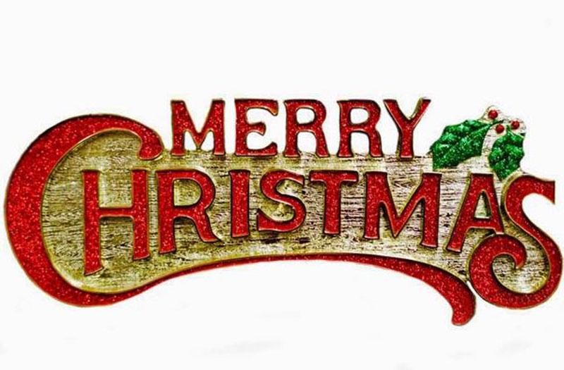 Chữ Merry Chrismas treo cây thông