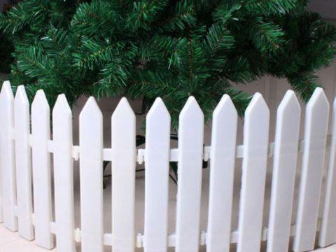 Hàng rào cây thông noel, Hàng rào nhựa trang trí noel